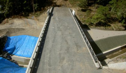 42号泉道路建設工事 完成しました。