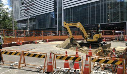 中央新幹線名古屋駅(東側)短形立坑工事