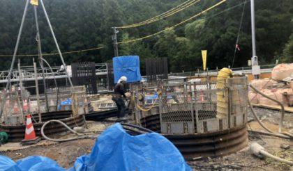三遠道路東栄1号橋下部工事