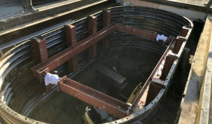 五十鈴川水源地送水管布設工事
